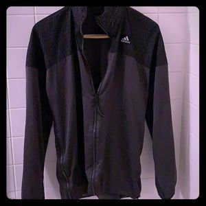 Men's Adidas jacket with side zips and hidden hood
